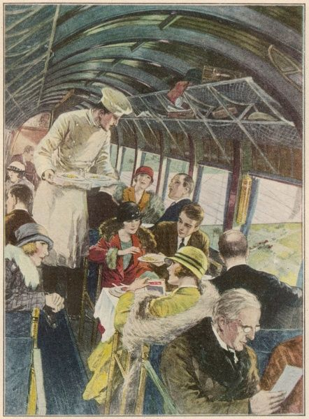 On board an Imperial Airways air-liner from Croydon, destination Paris Date: 1926