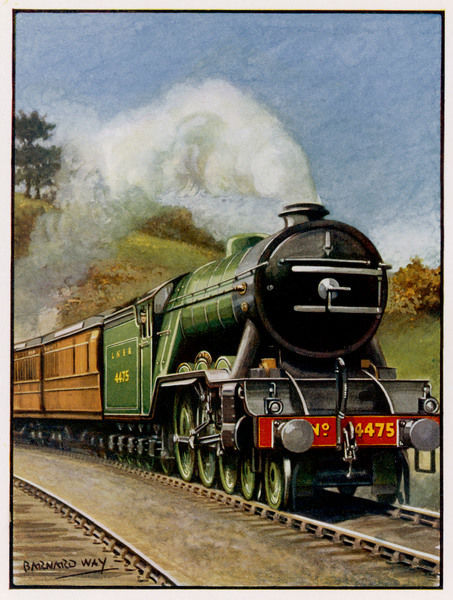 The London and North Eastern Railway's 'Flying Scotsman' is hauled by Gresley Pacific 4475 'Flying Fox' locomotive