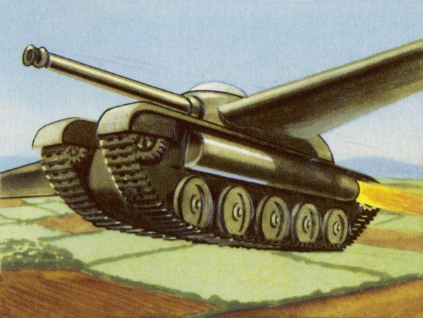 TANK EQUIPPED WITH RETRACTABLE WINGS