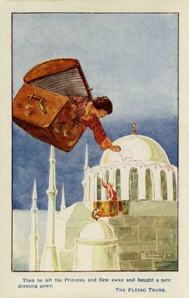 The Flying Trunk -- a story by Hans Christian Andersen, in which a young man flies to Turkey in a trunk and visits the Sultan's daughter