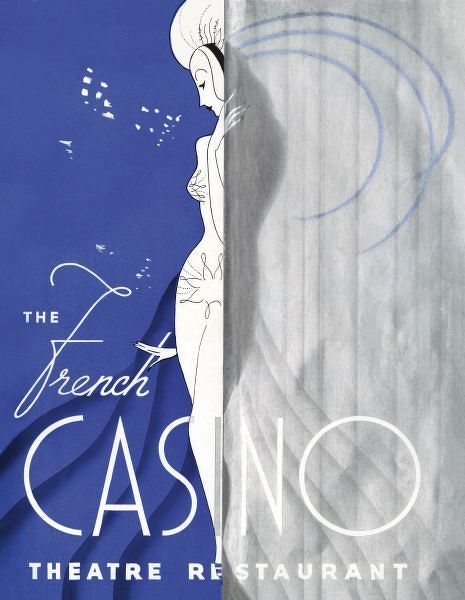 Programme cover for the French Casino Follies at the French Casino, New York, 1936, the fifth Clifford Fischer show Date: 1936