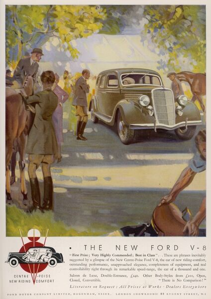The Ford V-8 saloon de luxe - at a horse show