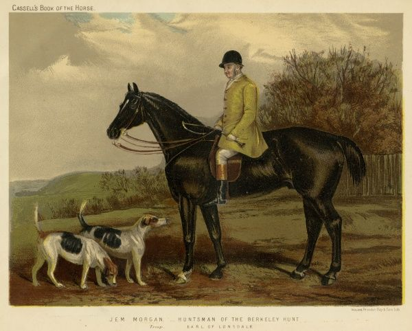 Jem Morgan, huntsman of the Berkeley Hunt. Date: 19th century
