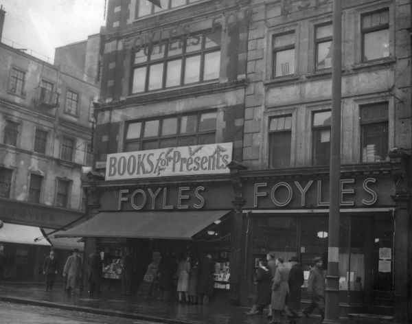 The famous Foyles book shop on Charing Cross Road in London, established in 1903