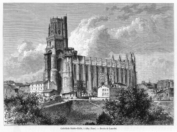 The cathedral at Albi (spelt Alby at this time)