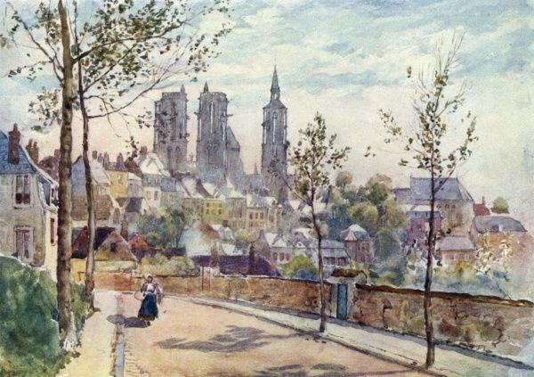 Laon: a quiet street Date: 1907