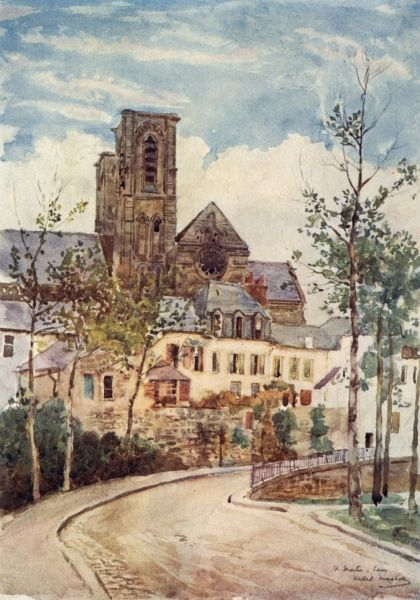Laon: a deserted street Date: 1907