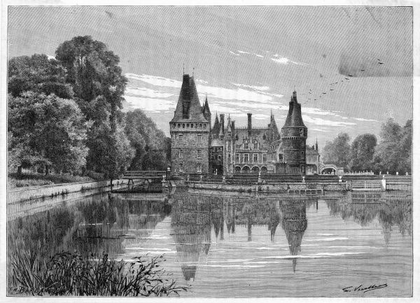 Le chateau de Maintenon is located about 60km southwest of Paris