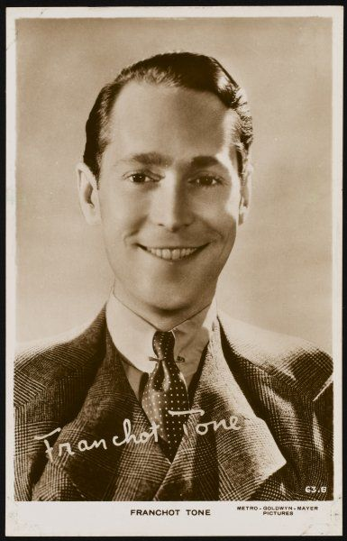 FRANCHOT TONE American actor of stage and screen