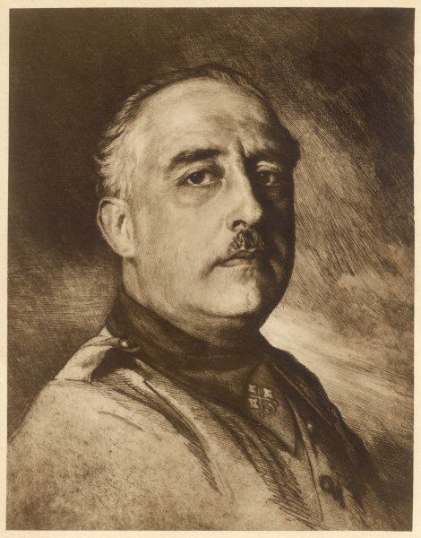 Spanish dictator and soldier, FRANCISCO FRANCO (1892-1975)