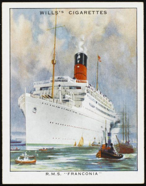 Passenger liner of the Cunard line, employed chiefly as a cruise ship