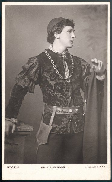 (Sir) FRANK ROBERT BENSON English actor-manager, founder of a Shakespearean company, seen here in the role of Romeo