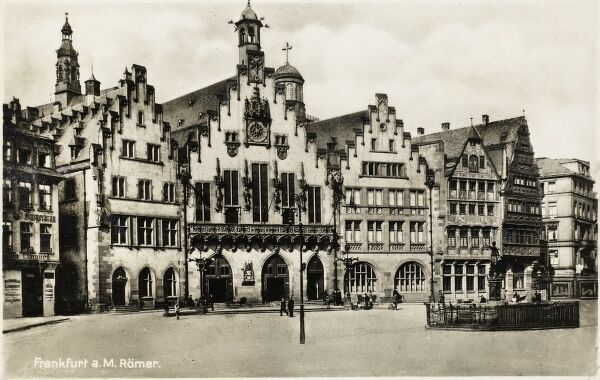 "The Romer (German for ""Roman"") is a medieval building in Frankfurt am Main and one of the city's most important landmarks"