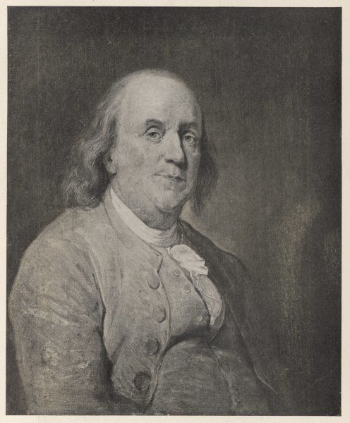 BENJAMIN FRANKLIN the American statesman, scientist and philosopher in later life