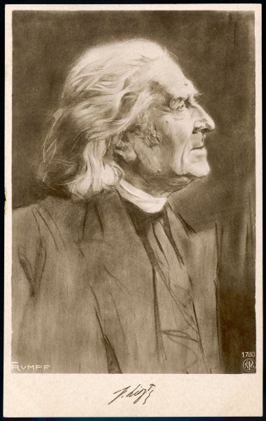 Franz Liszt (1811-1886) the Hungarian composer in old age