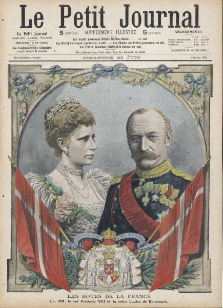 FREDERICK VIII King of Denmark (1906-12) with his wife Louise