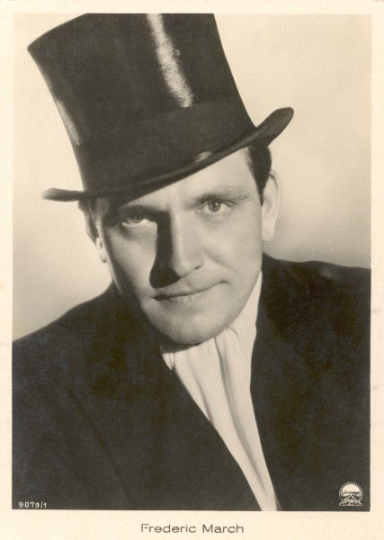FREDRIC MARCH American actor of stage and screen, seen here in the role of Dr Jekyll/Mr Hyde (1932) Date: 1897