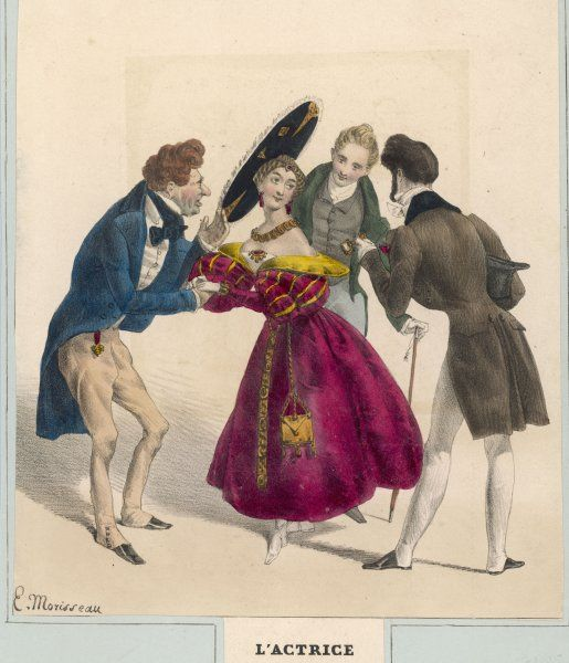 A French actress and three attentive admirers