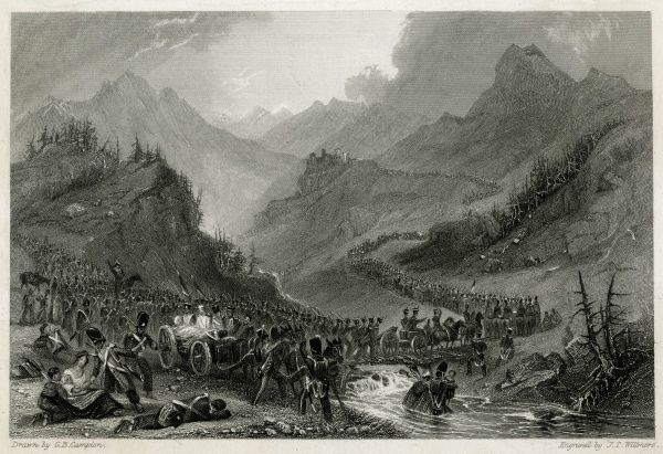 French army retreat from Arroyo de Molinos after General Rowland Hill had defeated Giraud. Date: 26 October 1811
