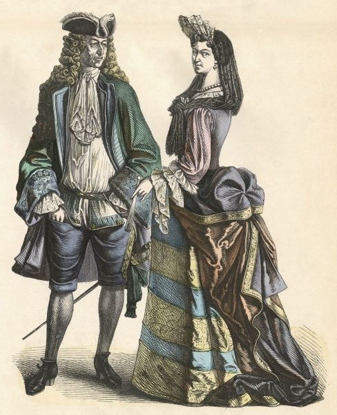 A well-born couple French couple. Date: 1690s