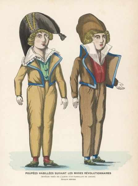Two French dolls of the post- revolutionary period (Empire)