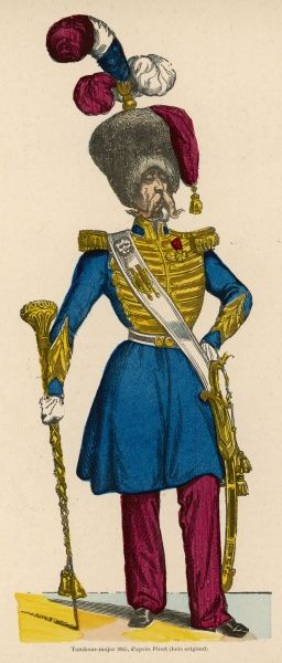 Le Tambour-major (Drum major) in all his finery !