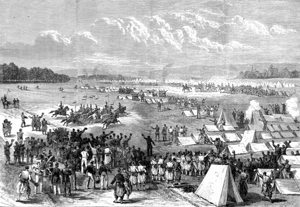 Engraving showing Napoleon III arriving at Chalons, to confer with his generals about the fate of his empire, on 16th August. By September 2nd 1870 the French army capitulated to the Prussians