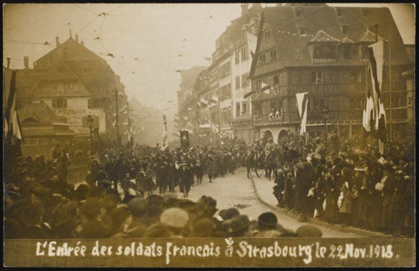 French troops enter Strasbourg, liberating Alsace from German occupation - until the next war