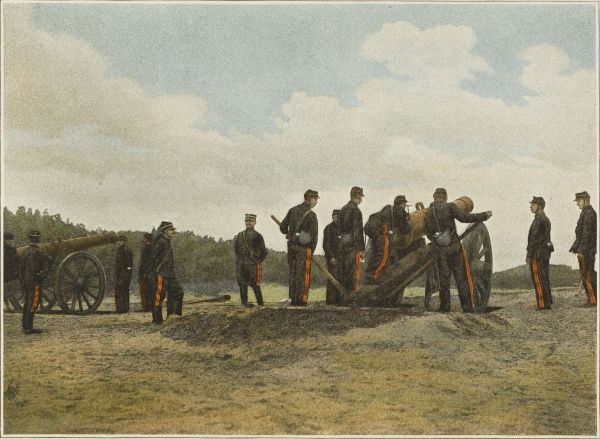 Aiming a French 24 cannon