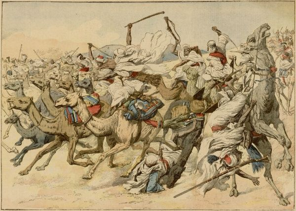 Conflict with the French and raiders from Morocco on the Algerian-Moroccan border