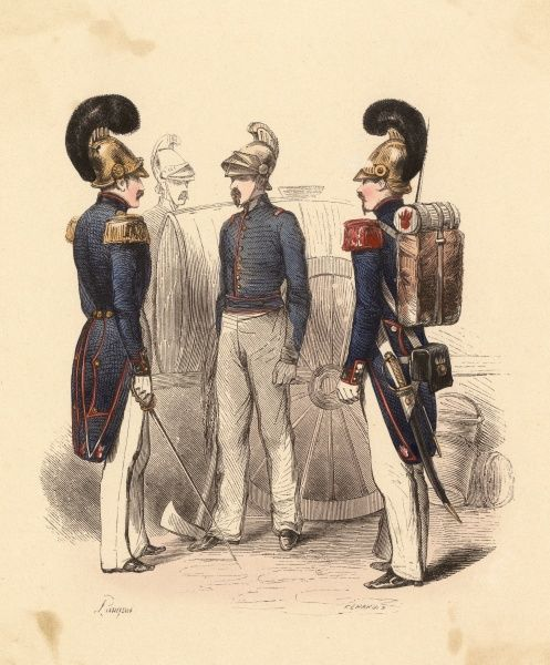 French firemen - (sapeurs-pomiers) Date: 1850
