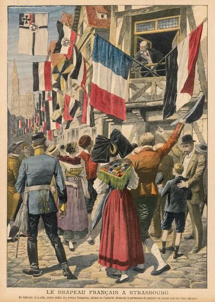 An old soldier in German- occupied Strasbourg is permitted to display the French flag