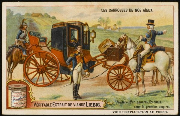 The personal carriage of a French general during the First Empire
