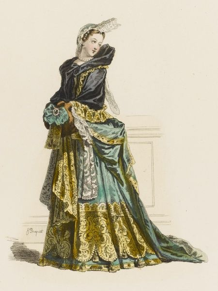 A French lady of quality during the reign of Louis XIV