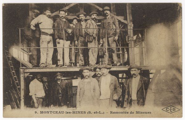 French miners at Montceau-les- Mines, central France
