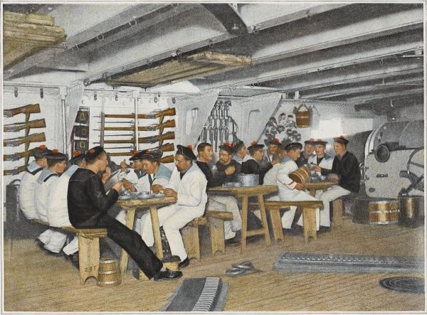 French sailors at mealtime