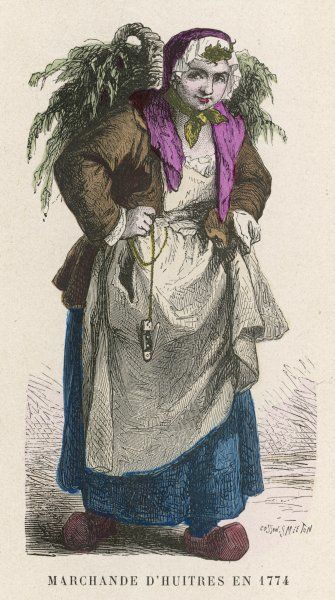A French oyster seller Date: 1774