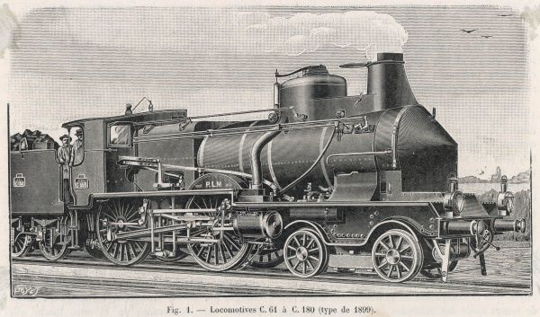Express locomotive of the Paris-Lyon-Marseille line, type C.61-180
