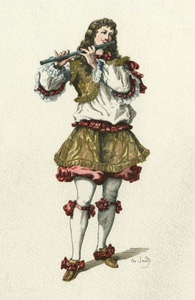 'Symandre' A character from 'La Comedie des Comediens' by Gougenot. Date: 1633