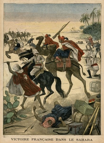 The French defeat Sahara Touaregs Date: 1900