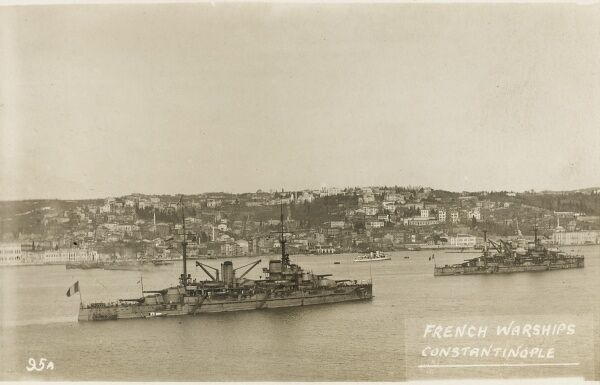 French warships at Constantinople at the end of the First World War