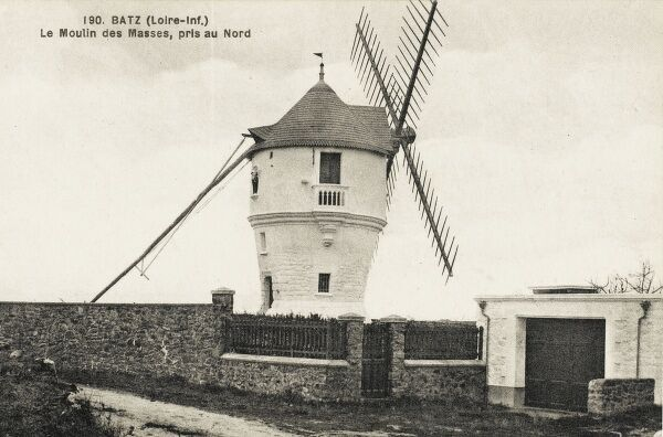 The 'Moulin des Masses' - a windmill at Batz on the River Loire, France