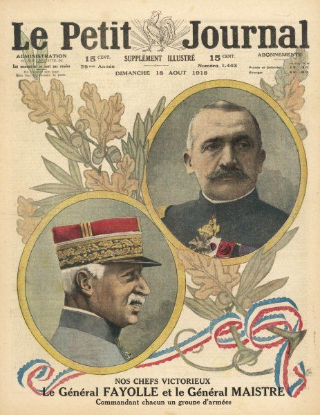General Emile Fayolle and General Paul Maistre, French generals in World War One