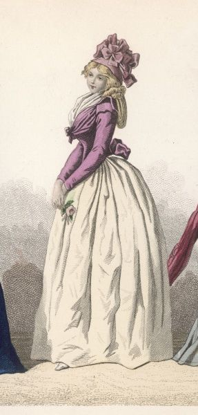 The simple but graceful style favoured by ladies during the Revolutionary period
