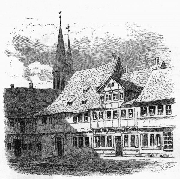 FRIEDRICH GAUSS - the house where the German scientist was born. Date: 1777