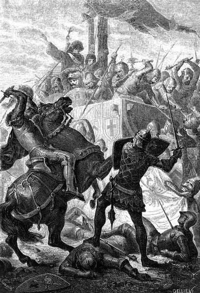 Holy Roman Emperor Friedrich II of Sicily defeats the Milanese of the Lombard League at the Battle of Cortenuova, 27th November 1237. Date: 27th November 1237
