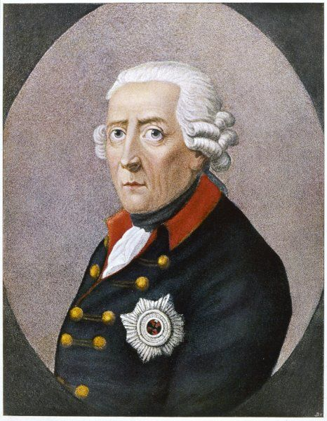 FRIEDRICH II THE GREAT King of Prussia from 1740-86 Date: 1712 - 1786
