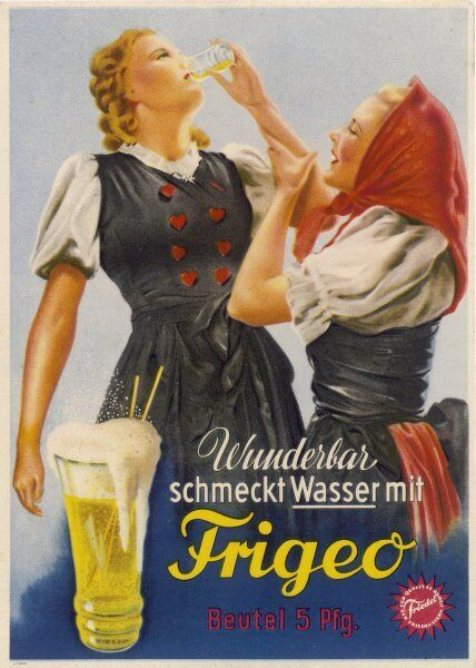 Water tastes wunderbar when you add Frigeo - no wonder these sturdy German girls are eagerly drinking it !