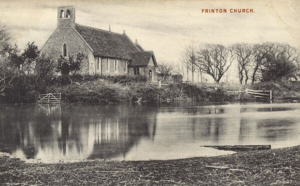 Frinton-on-Sea, Essex - The Church of St Mary the Virgin, once recorded as the smallest parish church in England Date: circa 1910