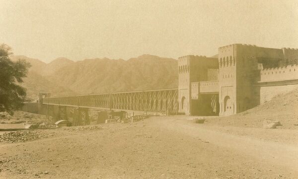 The Atak Bridge forming the frontier between India (now Pakistan) and Afghanistan